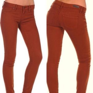 BLANK NYC Skinny Spray On Jeans - Rust Colored